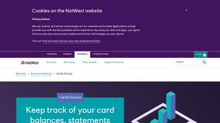 Cards OnLine - NatWest business bank