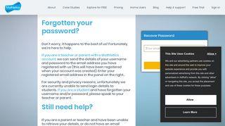 Forgotten your Mathletics username and password?