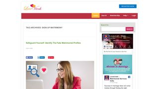 Sign up matrimony | Lovevivah Matrimony Blog
