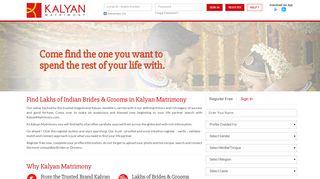 Kalyan Matrimony: Matrimonial Website | Matrimony Brides ...