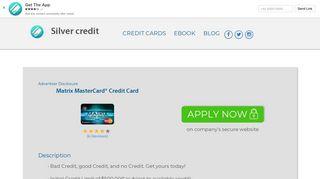 Matrix MasterCard® Credit Card - Silver credit