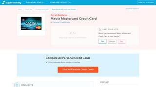 Matrix Mastercard Credit Card Reviews - Personal Credit Cards ...