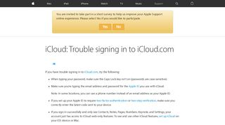 iCloud: Trouble signing in to iCloud.com - Apple Support