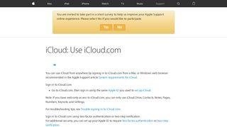 iCloud: Use iCloud.com - Apple Support