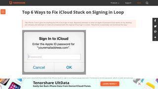 Top 6 Ways to Fix iCloud Sign in Loop or Stuck on iPhone, iPad