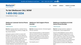 Mediacom Phone Number - Cable TV