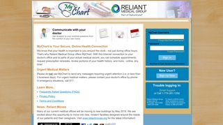 Reliant Medical Group - MyChart - Login Page
