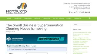 The Small Business Superannuation Clearing House is moving ...