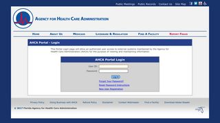 AHCA Portal Login - MyFlorida.com