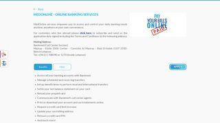 MedOnline - Online Banking Services - Bankmed