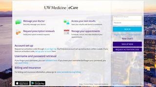 UW Medicine eCare - Login Page