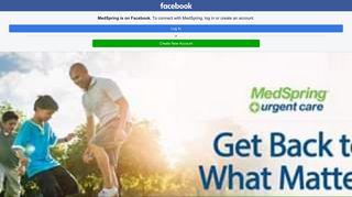 MedSpring - Home | Facebook - Facebook Touch