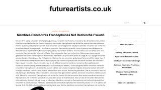 Membres Rencontres Francophones Net Login and Support
