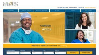 Career Areas at Memorial Hermann Health System