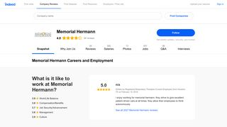 Memorial Hermann Careers and Employment   Indeed.com