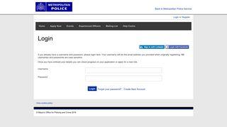 Login - Police Careers (MET)