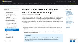 Sign in to your accounts using the Microsoft Authenticator app - Azure ...