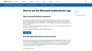 How to use the Microsoft Authenticator app - Microsoft Support