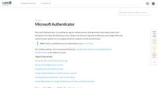 Microsoft Authenticator - LogMeIn Support - LogMeIn, Inc.
