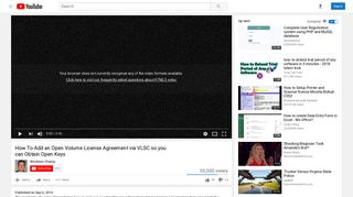 How To Add an Open Volume License Agreement via VLSC so you ...