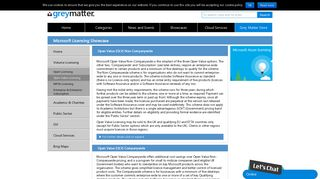 Microsoft Licensing - Open Value Licensing - Grey Matter