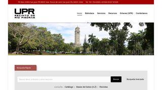Sistema de Bibliotecas – Universidad de Puerto Rico ... - UPR.edu