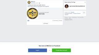 MktCoin - To Sign up to have your wallet, click on... | Facebook