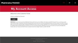 Mahindra Finance| My Account Access – Mahindra Finance