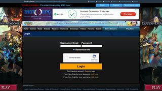 Login to your account - MMORPG.com