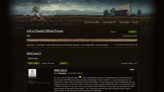 Life is Feudal • View topic - MMO login??