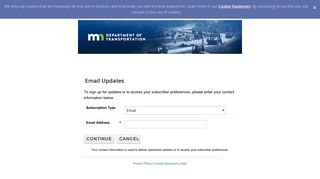 Email updates - com.govdelivery.public