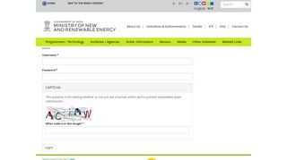 User account | Ministry of New and Renewable Energy ... - MNRE