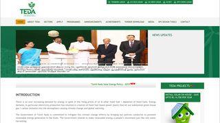 TEDA | Tamilnadu Energy Development Agency