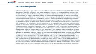 Mobile App for Android- License Agreement - Capital One