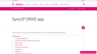 SyncUP DRIVE app | T-Mobile Support