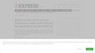 Martin Lewis: Money Saving Expert credit score check tips revealed ...
