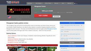 Mongoose Casino pokies | Review of instant-play casino site
