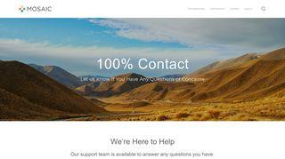Contact Us — Mosaic