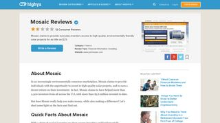 Mosaic Reviews - Is it a Scam or Legit? - HighYa