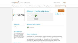 Mosaic - Profile & Reviews 2019 | EnergySage
