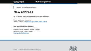 MOT testing service