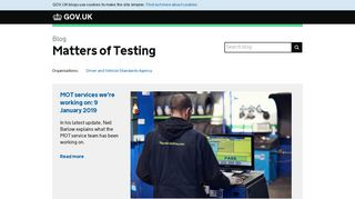 Matters of Testing