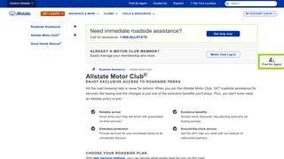 Motor Club | Allstate Insurance