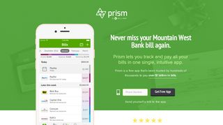 Pay Mountain West Bank with Prism • Prism - Prism Bills
