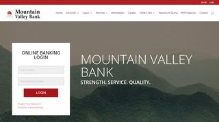 Mountain Valley Bank   Financial Strength With Mountain Valley