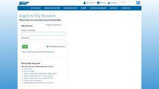 SRP My Account