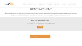 Rent Payment | MSC UVA | For Rent in Charlottesville, VA