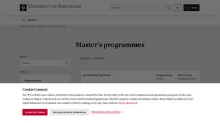 Master's programmes - University of Amsterdam