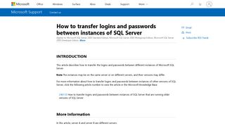 How to transfer logins and passwords between instances of SQL Server