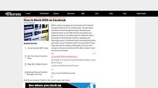How to Block MSN on Facebook | Chron.com